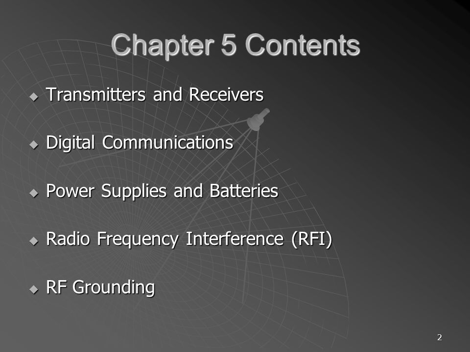 Chapter 5 Contents Transmitters and Receivers Digital Communications
