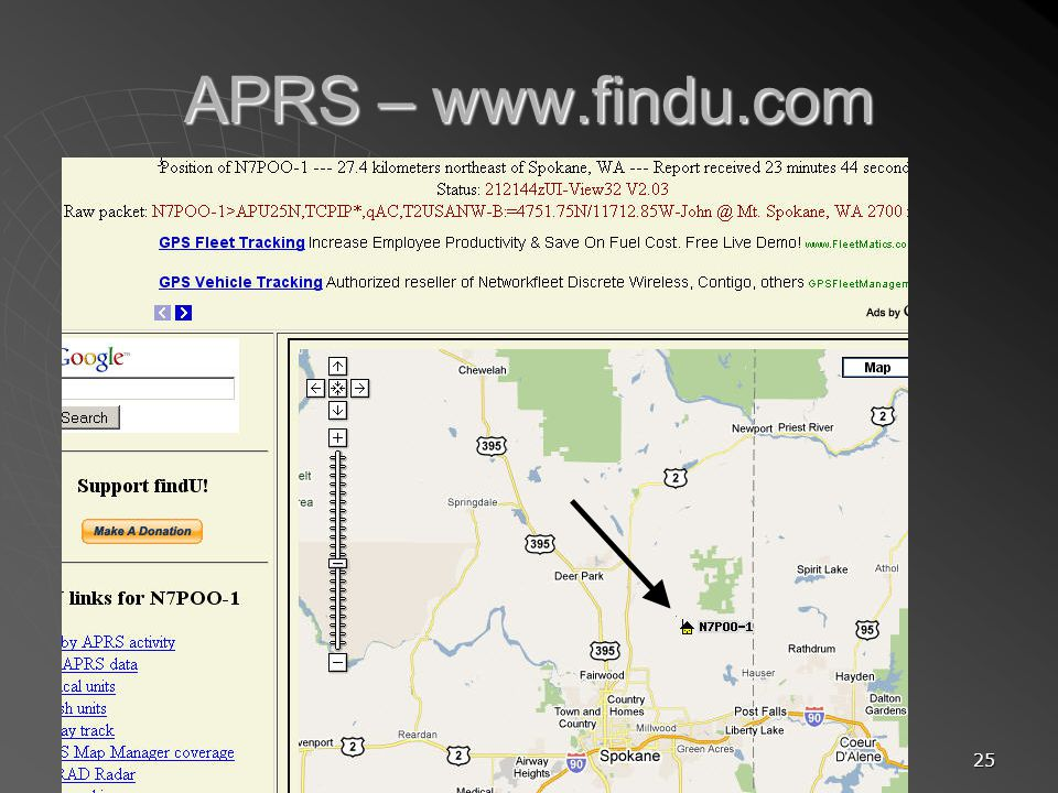 APRS – www.findu.com