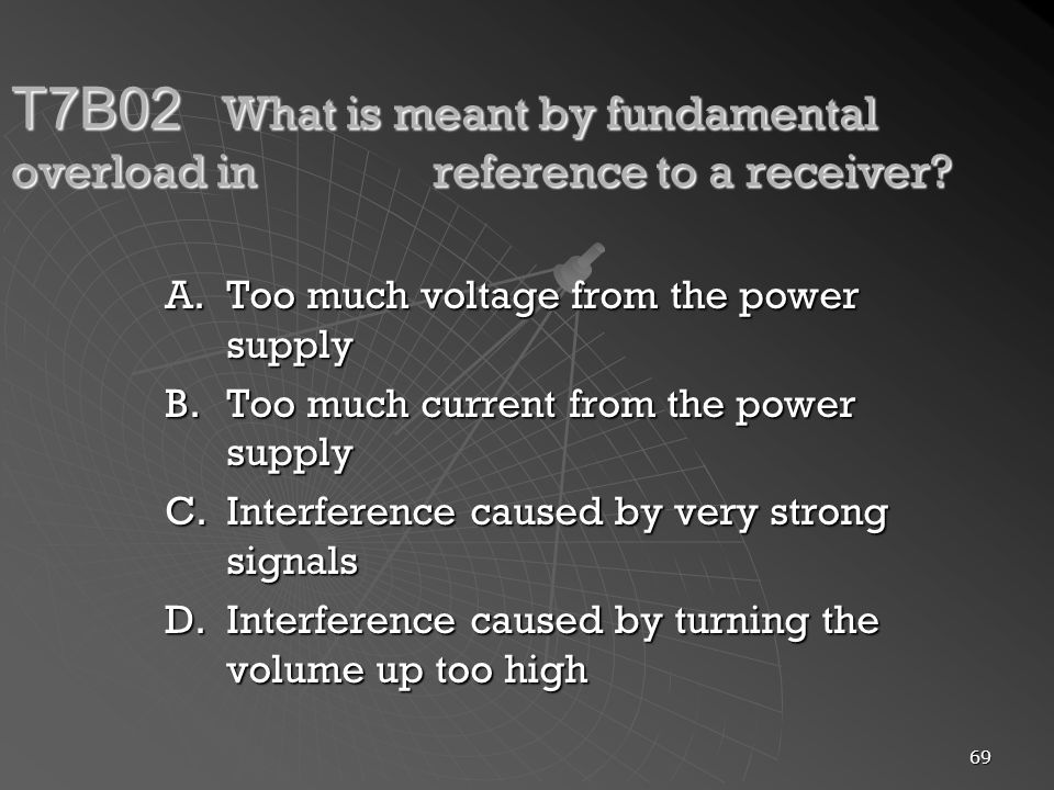 T7B02. What is meant by fundamental overload in