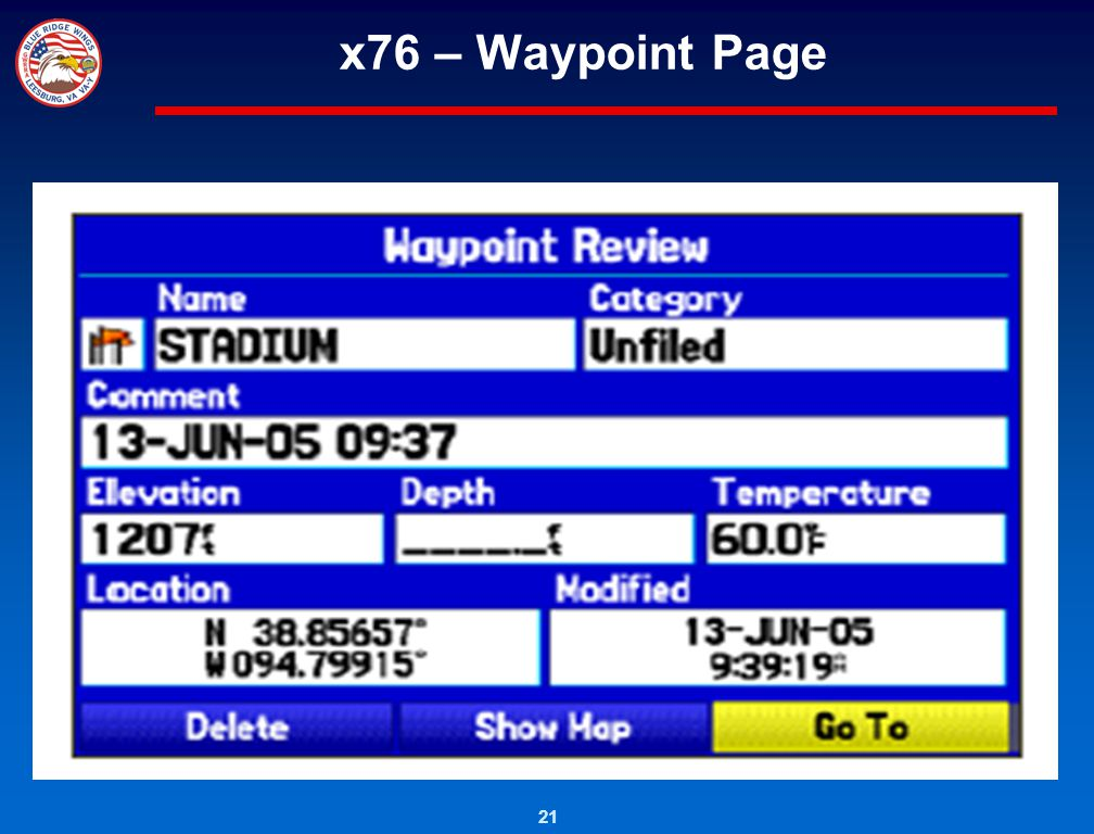 x76 – Waypoint Page
