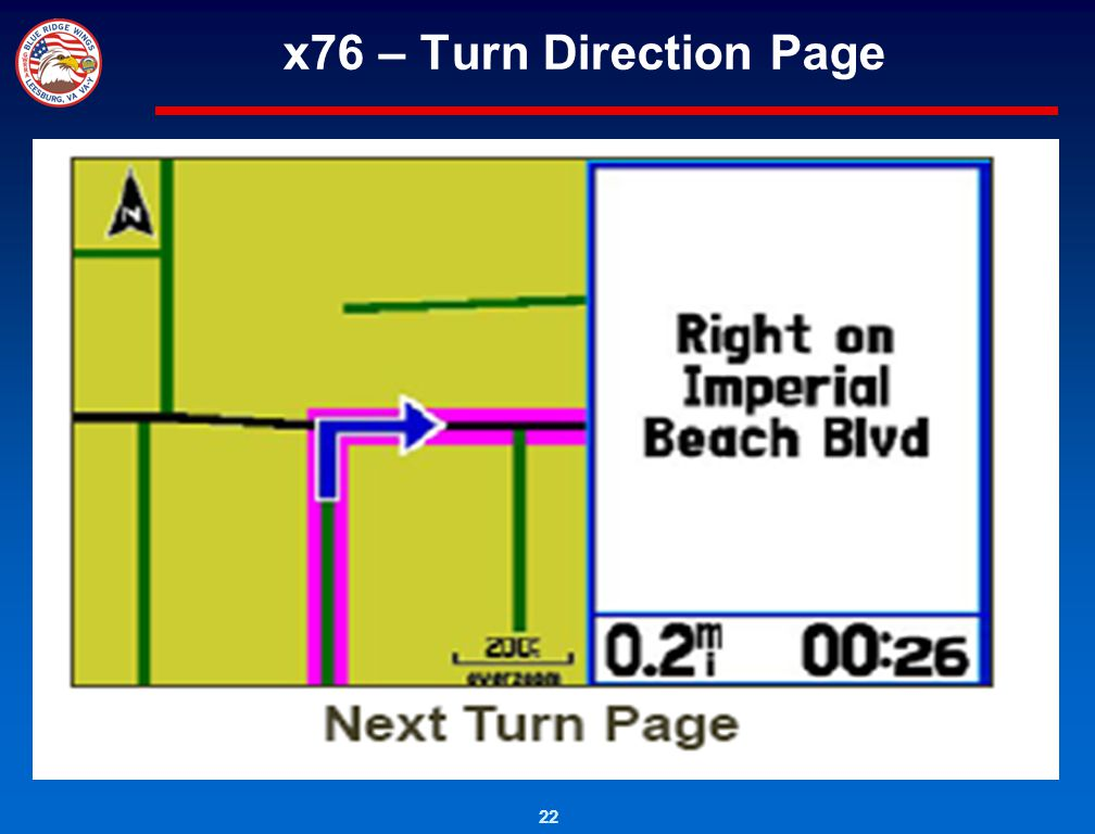 x76 – Turn Direction Page