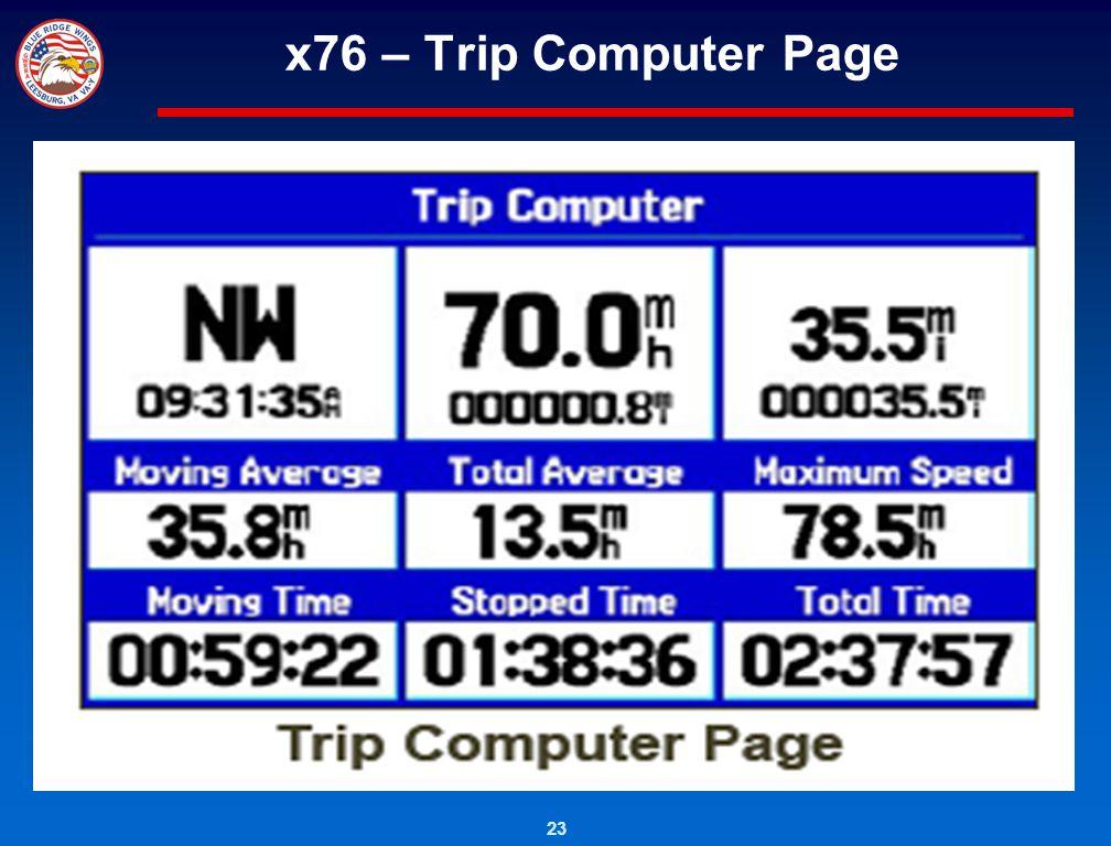 x76 – Trip Computer Page