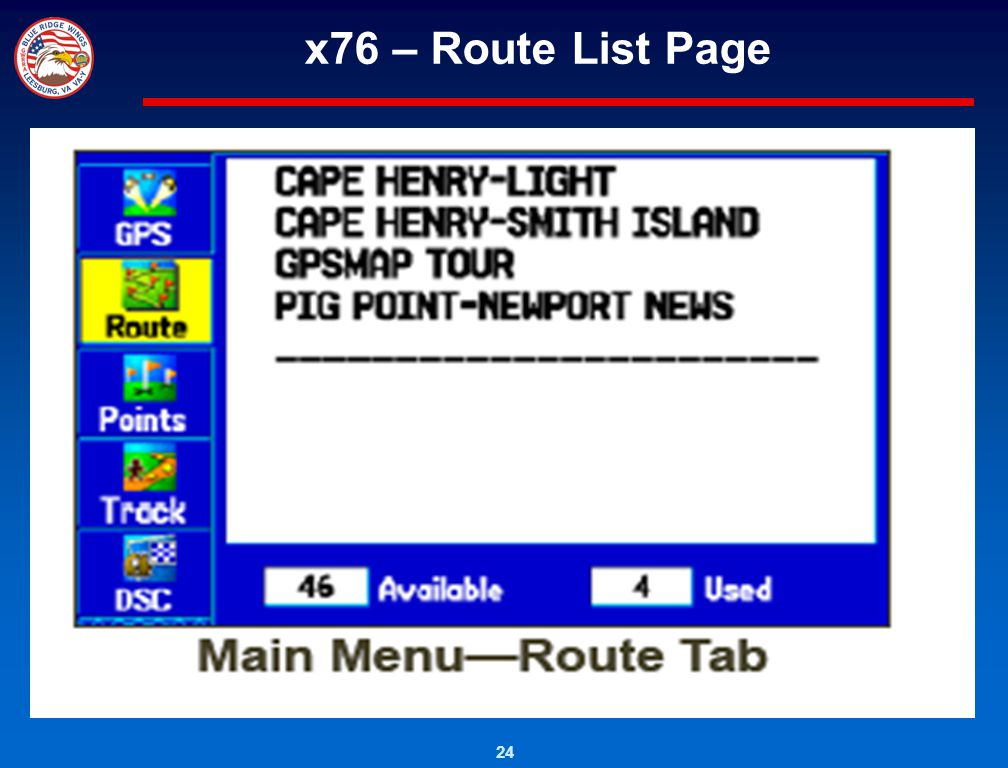 x76 – Route List Page
