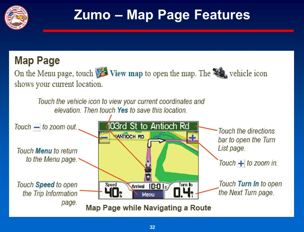 Zumo – Map Page Features