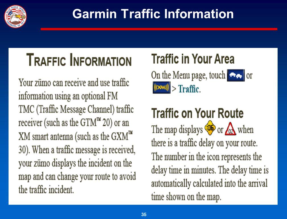 Garmin Traffic Information