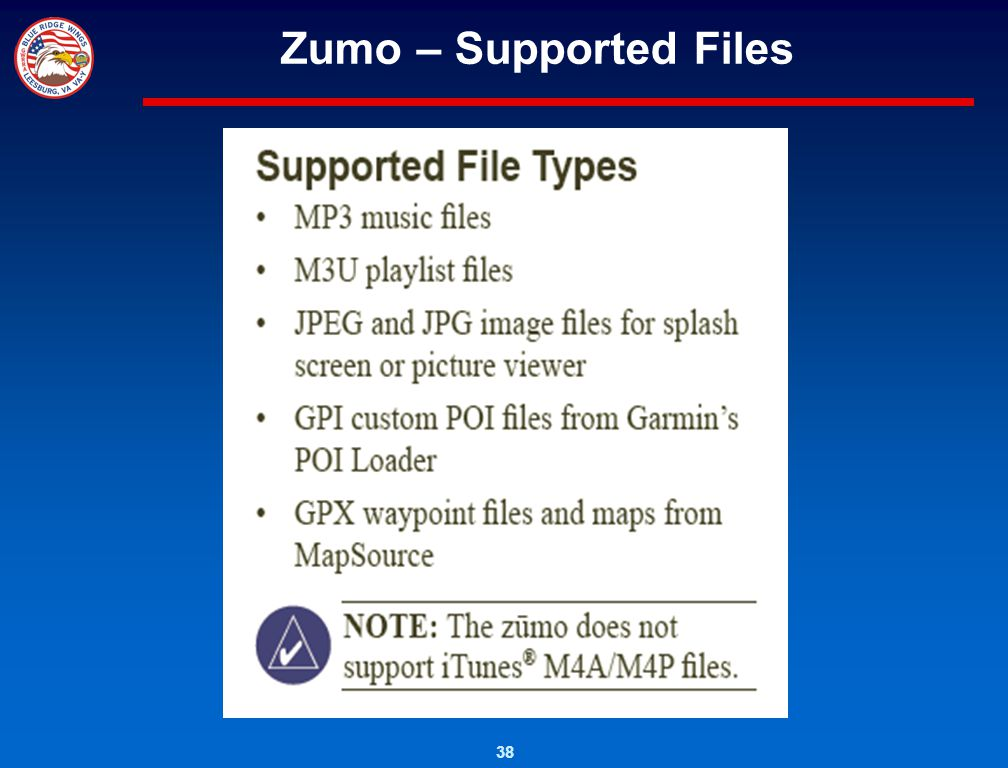 Zumo – Supported Files