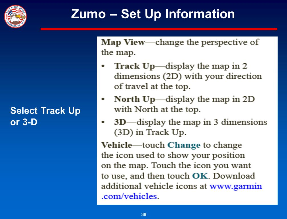 Zumo – Set Up Information