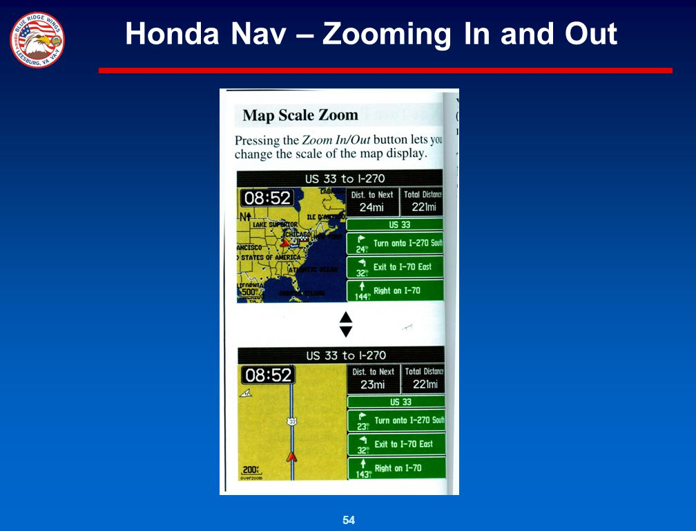 Honda Nav – Zooming In and Out