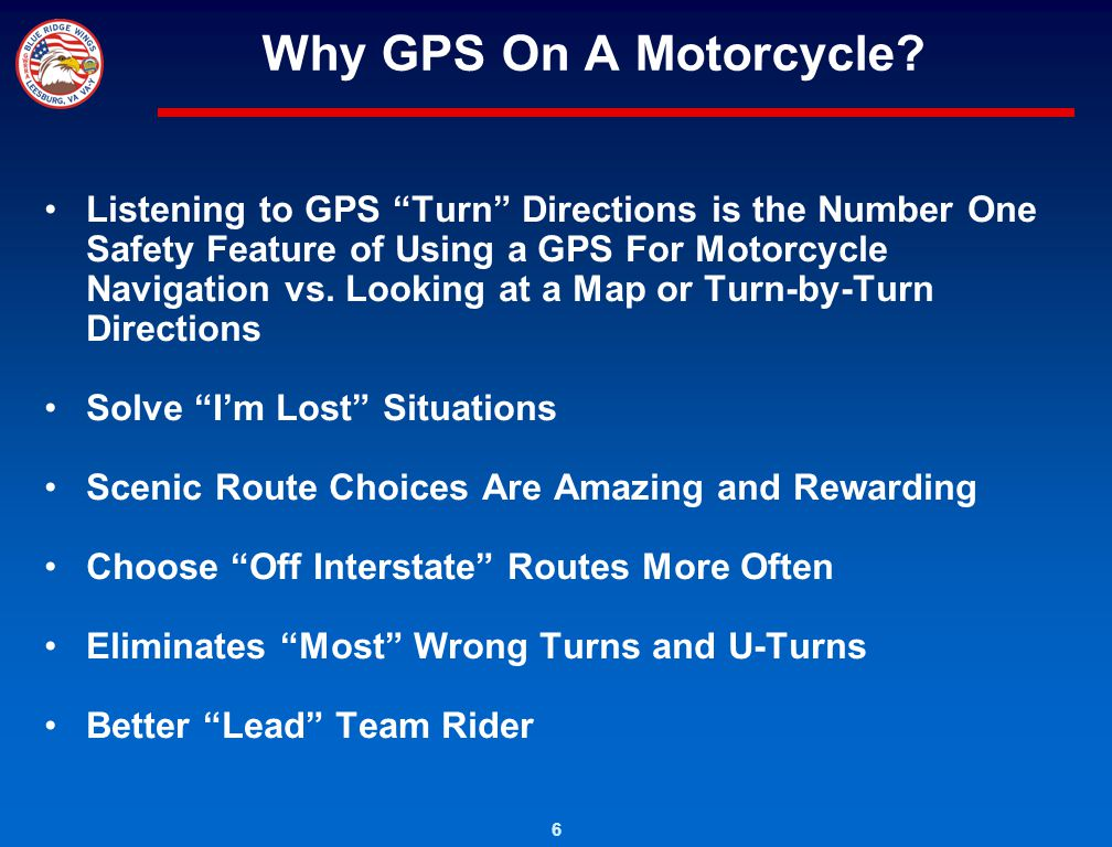 Why GPS On A Motorcycle