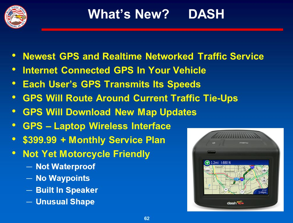 What's New DASH Newest GPS and Realtime Networked Traffic Service