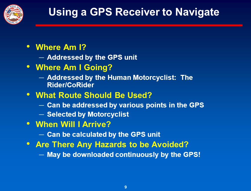 Using a GPS Receiver to Navigate