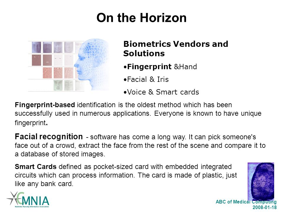 On the Horizon Biometrics Vendors and Solutions