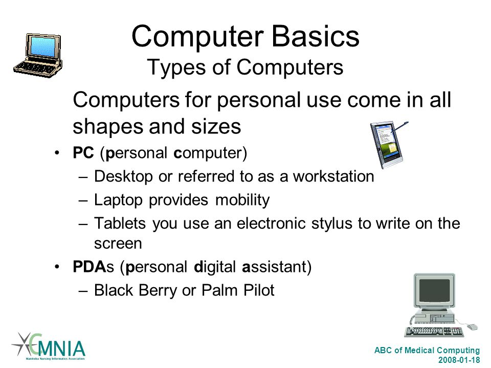Computer Basics Types of Computers
