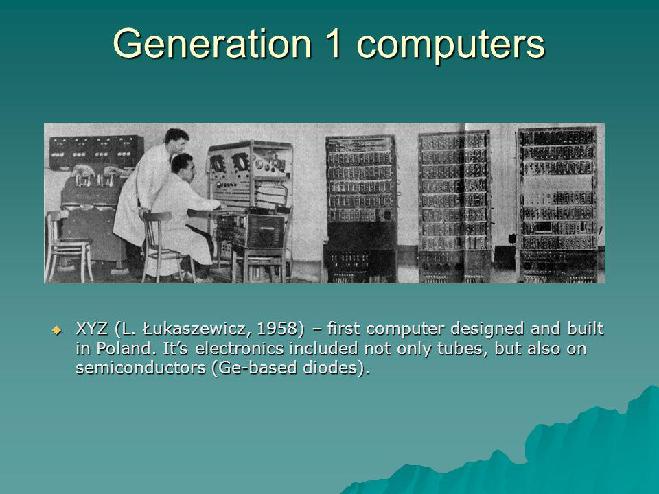 Generation 1 computers