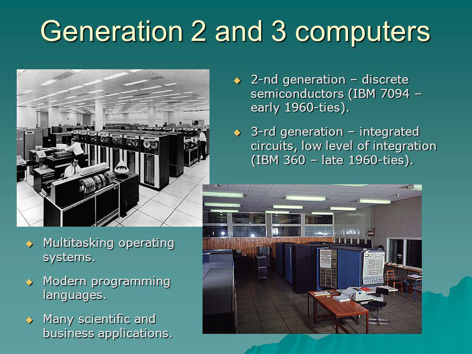 Generation 2 and 3 computers