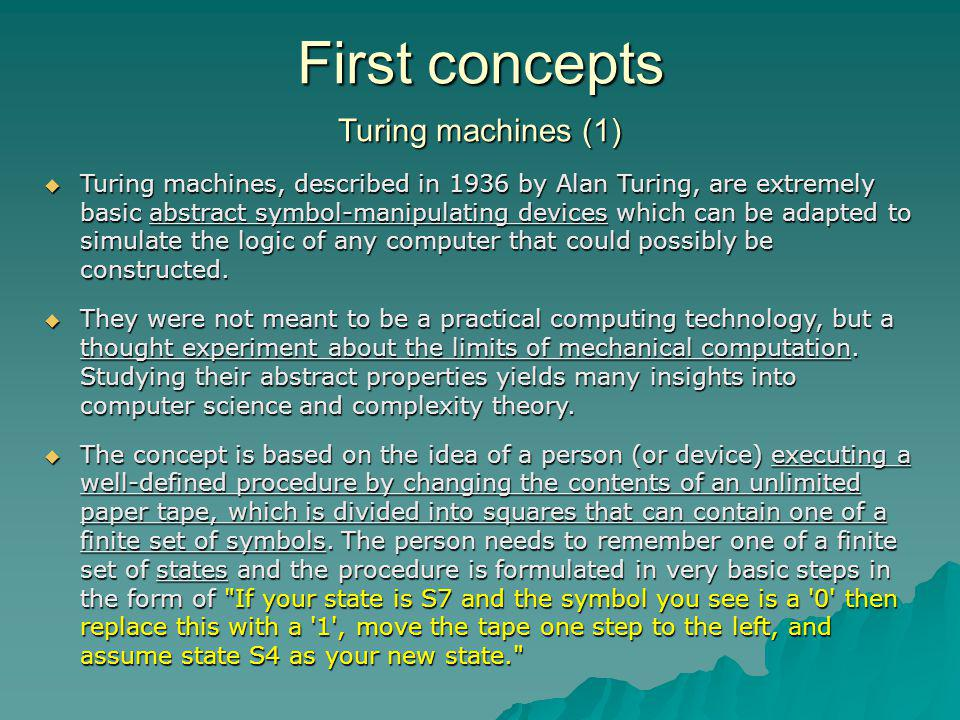 First concepts Turing machines (1)