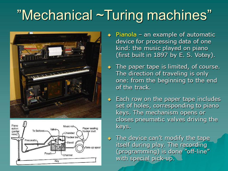 Mechanical ~Turing machines