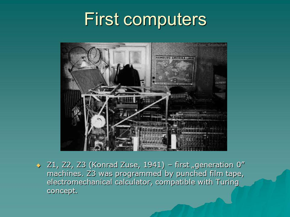 First computers
