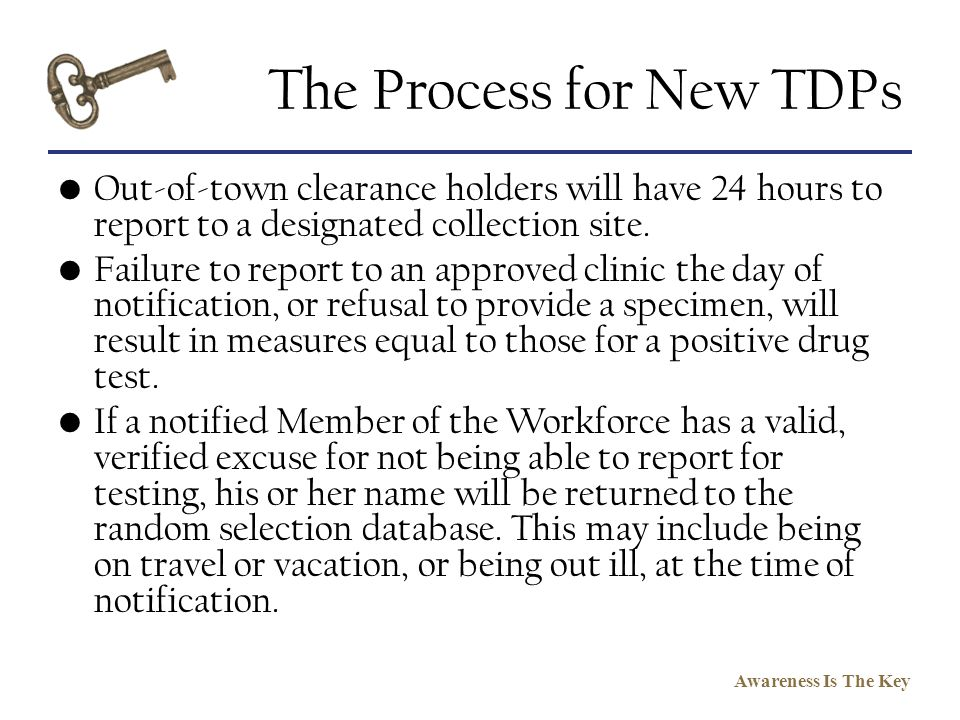 The Process for New TDPs