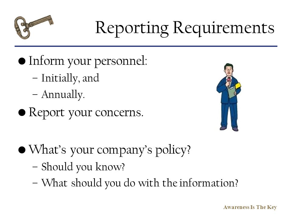 Reporting Requirements