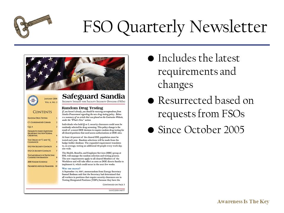 FSO Quarterly Newsletter