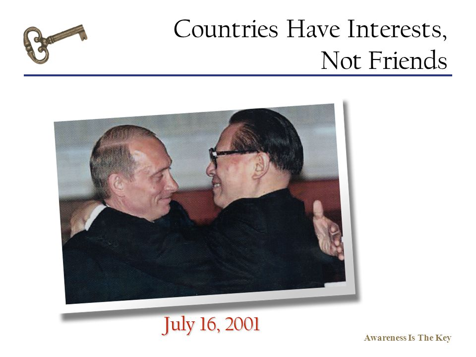 Countries Have Interests, Not Friends
