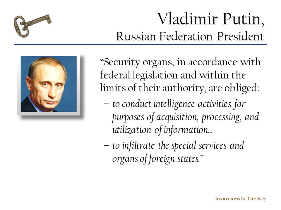 Vladimir Putin, Russian Federation President