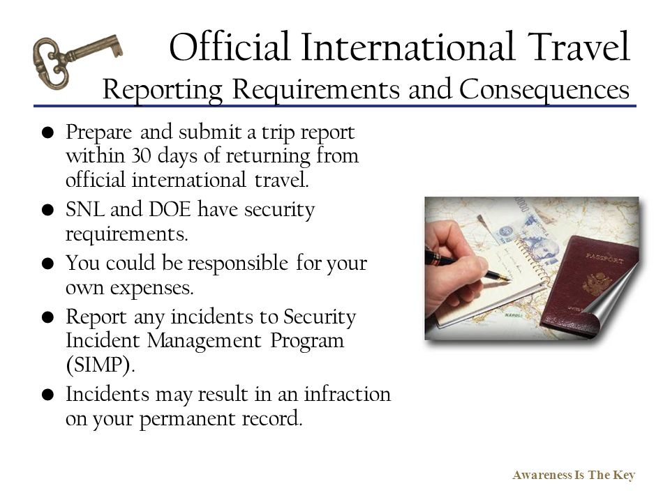 Official International Travel Reporting Requirements and Consequences