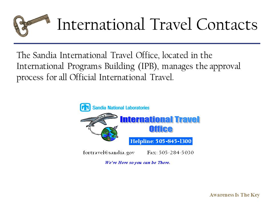 International Travel Contacts