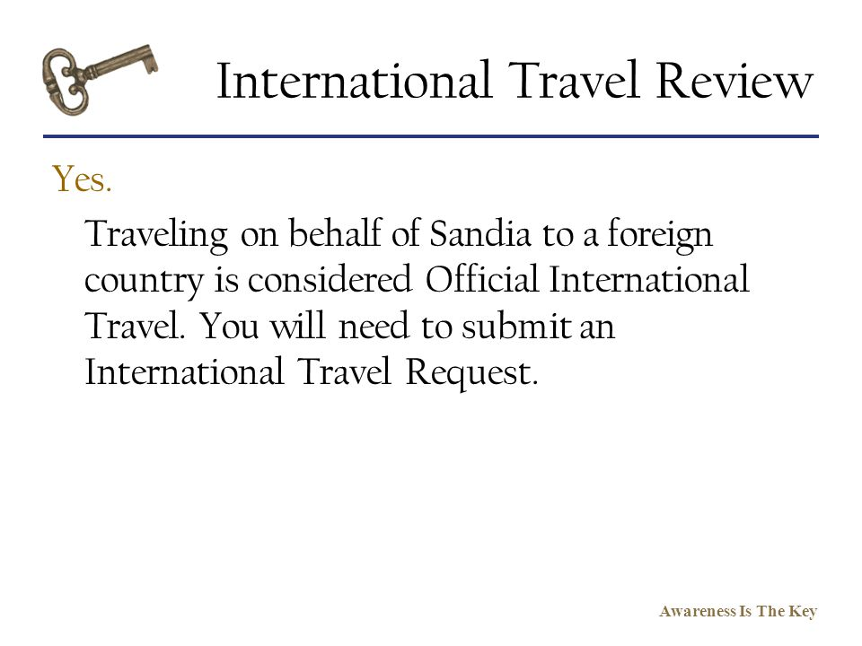 International Travel Review