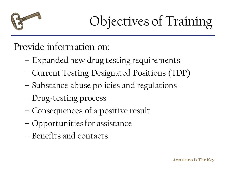 Objectives of Training