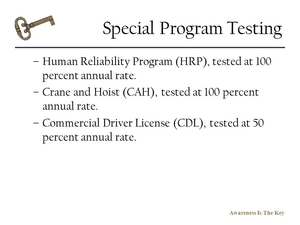 Special Program Testing