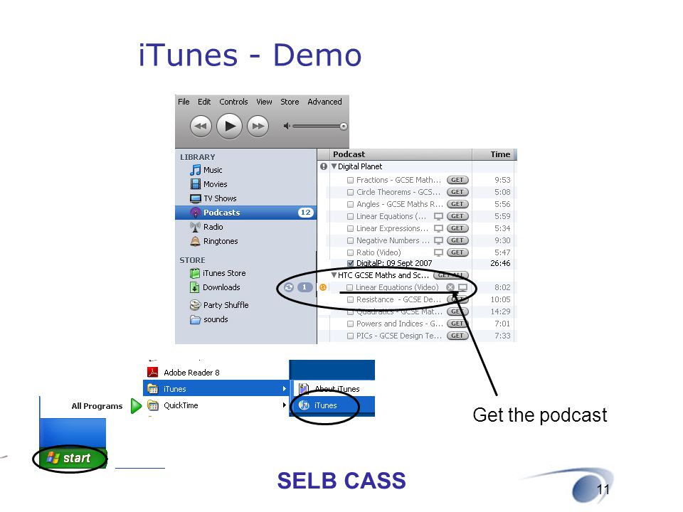 iTunes - Demo Get the podcast