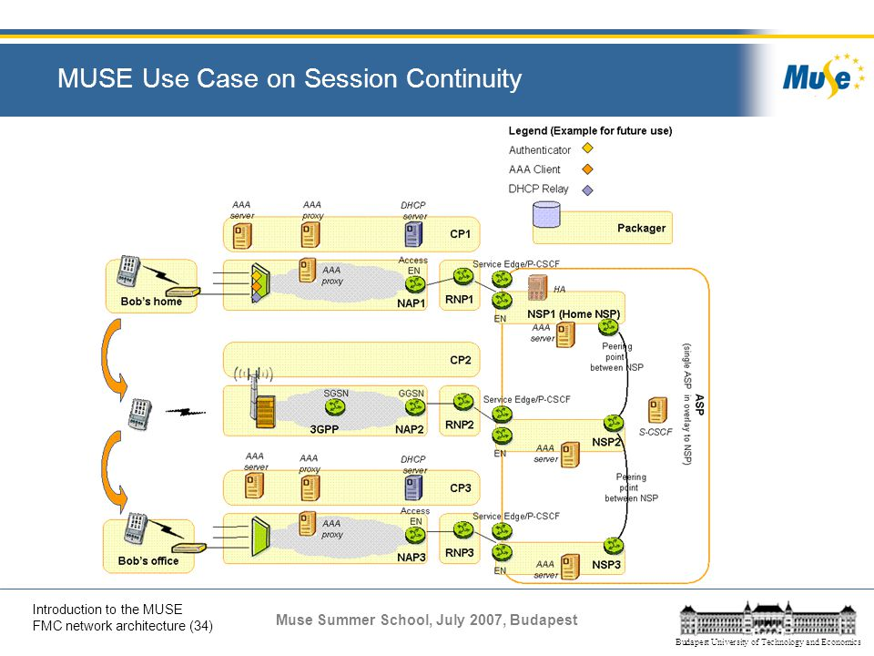 MUSE Use Case on Session Continuity