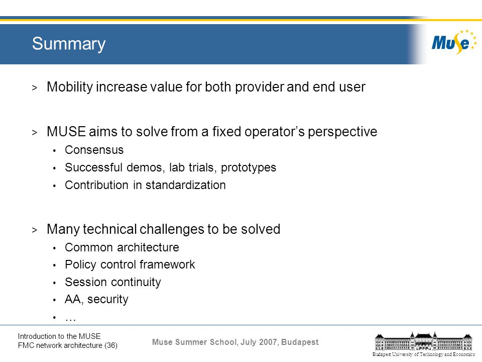 Summary Mobility increase value for both provider and end user