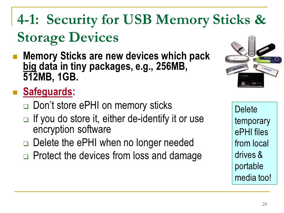 4-1: Security for USB Memory Sticks & Storage Devices