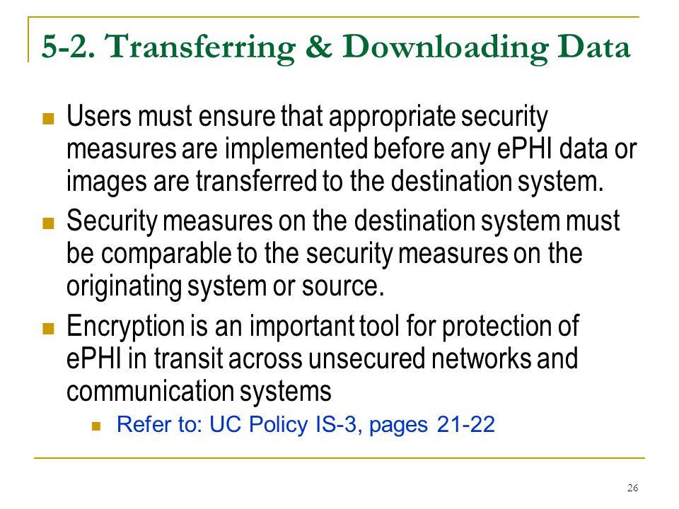 5-2. Transferring & Downloading Data