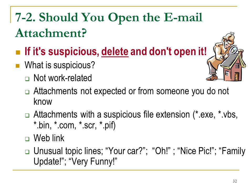 7-2. Should You Open the E-mail Attachment