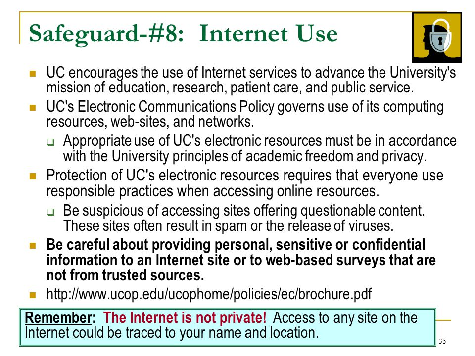 Safeguard-#8: Internet Use