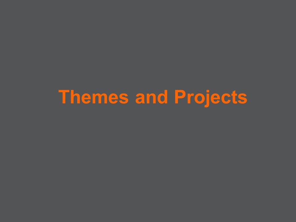 Themes and Projects