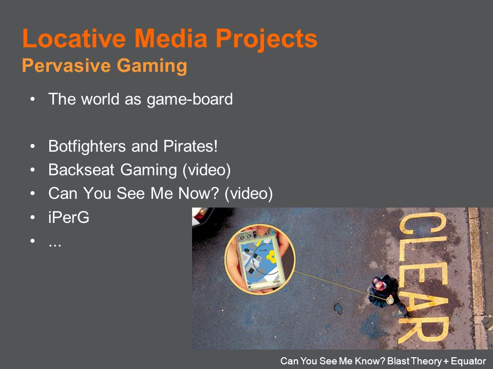 Locative Media Projects Locative Media Projects