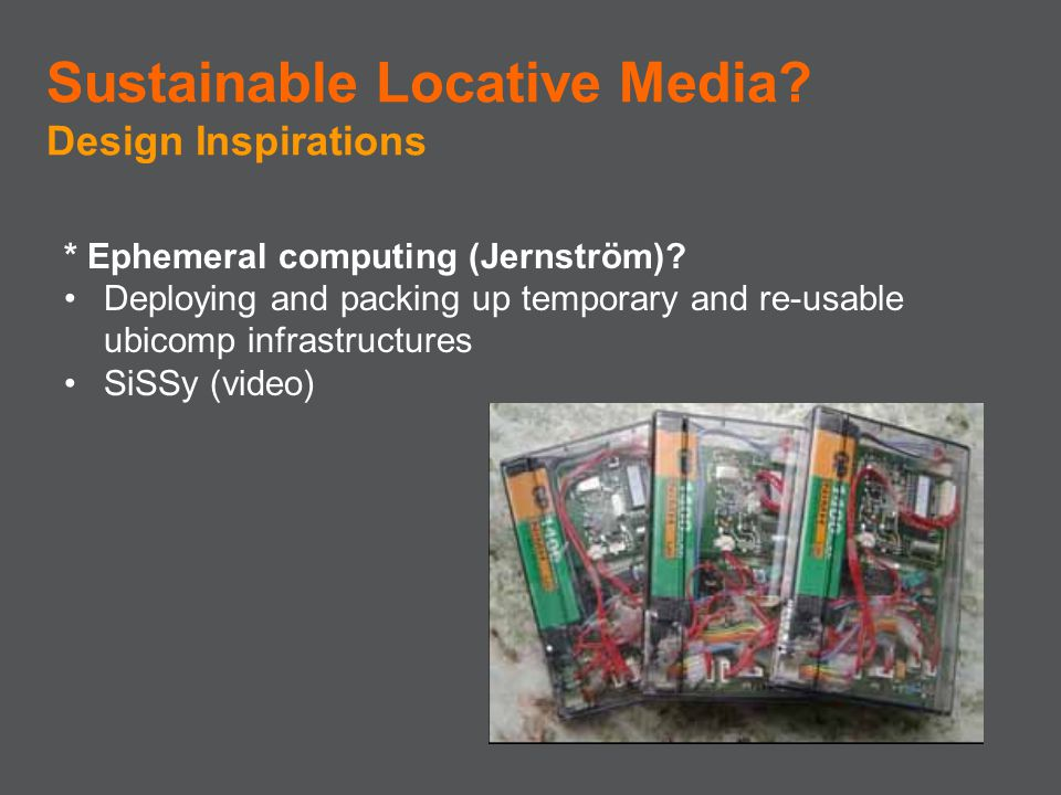 Sustainable Locative Media