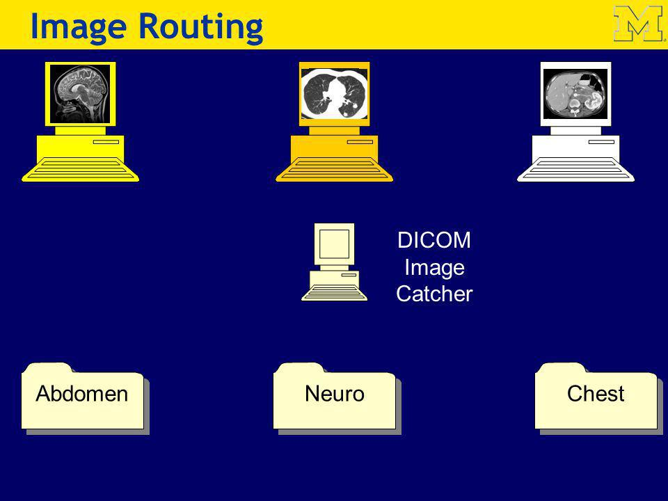 Image Routing DICOM Image Catcher Abdomen Neuro Chest