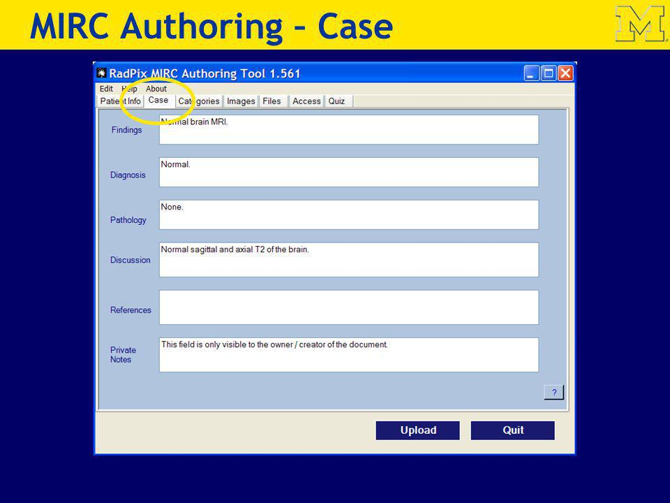 MIRC Authoring – Case