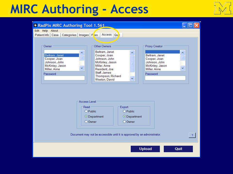 MIRC Authoring - Access