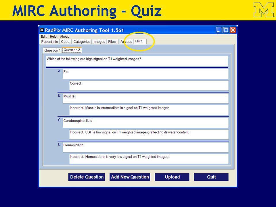 MIRC Authoring - Quiz