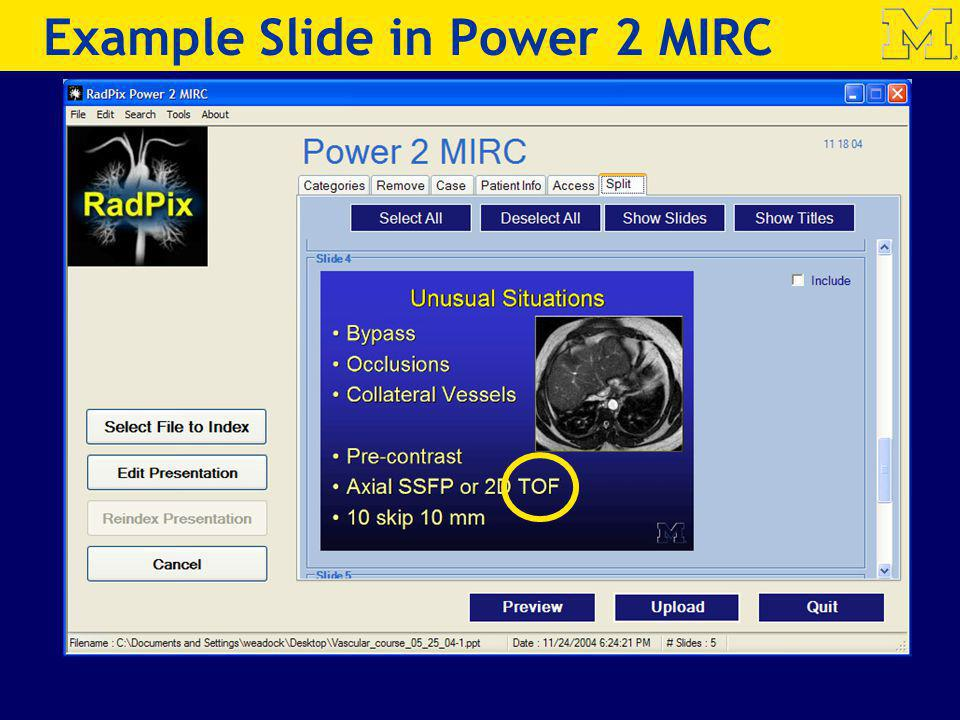 Example Slide in Power 2 MIRC