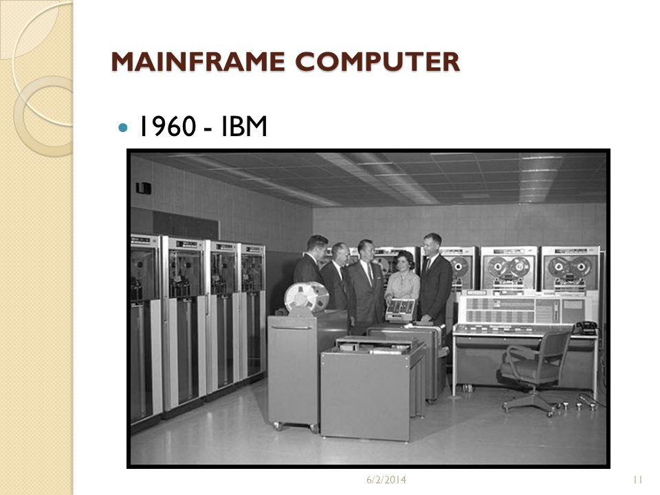 MAINFRAME COMPUTER 1960 - IBM 3/31/2017