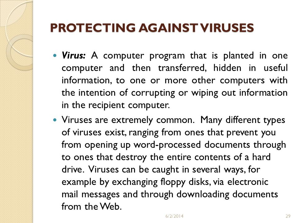 PROTECTING AGAINST VIRUSES