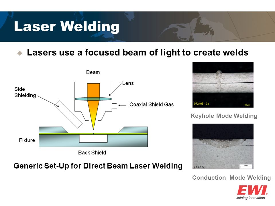 Generic Set-Up for Direct Beam Laser Welding Conduction Mode Welding